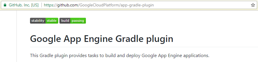 Google App Engine Gradle plugin